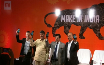 Chinese smartphone maker Xiaomi Inc. launches its first smartphone manufactured in India