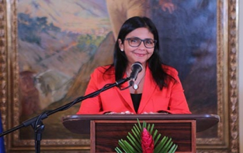 The Minister of External Relations of Venezuela, H.E. Ms. Delcy Rodriguez greeted the people of India on the 69th Independence Day