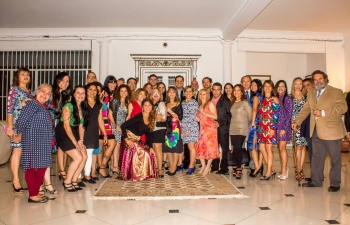 Reception hosted in Embassy Residence for members of Art of Living - Venezuela, 07 May 2016
