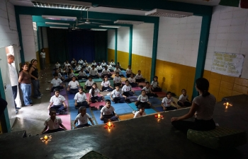 2nd International Day of Yoga celebrated in a School in Petare - the largest slum of Caracas
