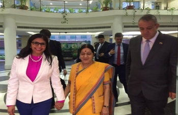 Foreign Minister and Oil Minister of Venezuela visit India