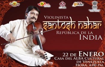 A three member violin group, led by Dr. Santosh Nahar, will be visiting Barinas State, Venezuela  for performances.