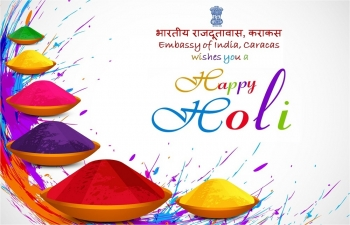 Embassy of India, Caracas wishes you a happy Holi