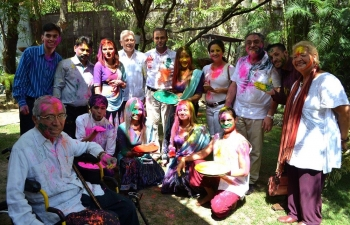 Holi was celebrated in the Embassy Residence, Caracas (Venezuela)  on 02 April 2017