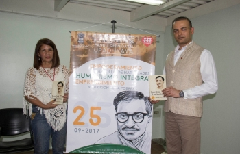 The 100th Birth Anniversary of Pandit Deen Dayal Upadhyaya was celebrated in Caracas on 25 September 2017 at Jesus Obrero College.