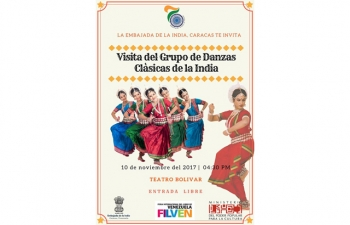 Performance of a 10 Member Odissi Dance Group led by Ms. Shubhada Varadkar on 10 November 2017 at Bolivar Theatre.