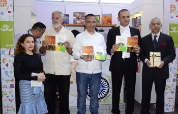 Two books on India in Spanish - '40 Años en la India' (40 years in India) and 'El Fascinante Mundo de Tabla' (The Fascinating World of Tabla) - published by the Embassy were launched at the International Book Fair FILVEN-2017 held in Caracas.