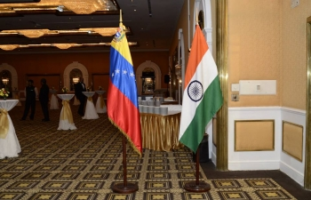 Republic Day Reception hosting by the  Embassy of India, Caracas on 26 January 2017 at Gran Melia Hotel.