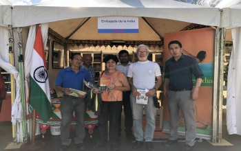 India stand at the International Book Fair of Miranda State at Francisco de Miranda park on 16th March 2018.