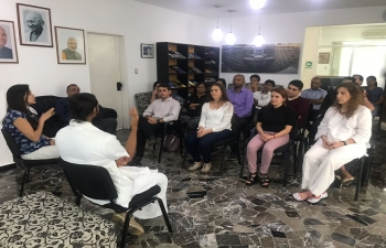 Art of Living Session at the Embassy of India, Caracas