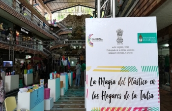 Exhibition of Indian Plastic Items at La Cascada Mall, Carrizal, Miranda State, Venezuela from August 11-12 2018