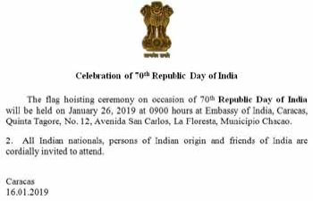 Celebration of 70th Republic Day of India