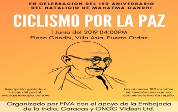 Celebrating the 150th Birth Anniversary of Mahatma Gandhi in Venezuela