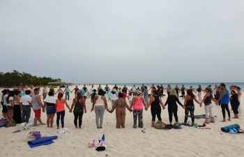 5TH INTERNATIONAL DAY OF YOGA AT ARUBA