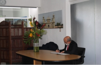 Condolence book on the sad demise of India's former External Affairs Minister Smt. Sushma Swaraj