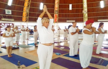 Yoga Session at Gran Fraternidad Universal, Maracay
