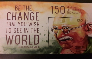 Commemorative stamp of Mahatma Gandhi on occasion of his 150th Birth Anniversary