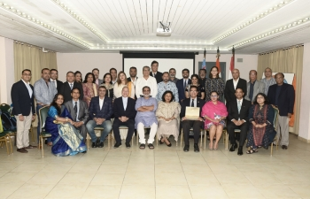 Celebration of Pravasi Bhartiya Divas 2020 and Vishwa Hindi Divas 2020 in Aruba