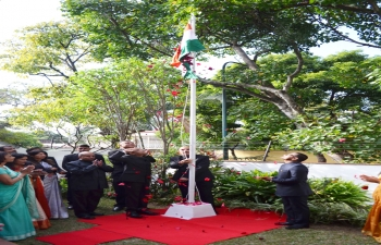 Flag Hoisting Ceremony in occasion of the 71st Republic Day on 26th January 2020 at the Embassy of India, Caracas
