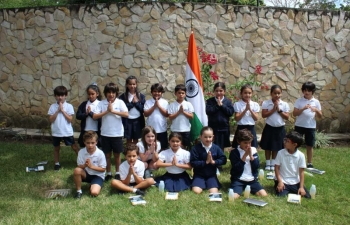 Visit of British School to Embassy