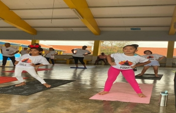 Celebration of the 6th International Day of Yoga in Curacao