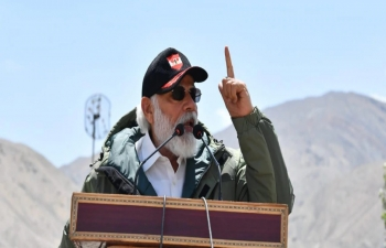 Hon'ble Prime Minister's visit to Nimu in Ladakh to interact with Indian troops