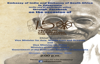 Invitation to 150 Years of Celebrating the Mahatma Facebook Video Event