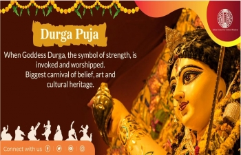 """Indian Council for Cultural Relations, New Delhi is organizing a Global Contest on the theme """"Durga Puja and its relevance in people's lives"""" from 18 to 25 October 2020"""