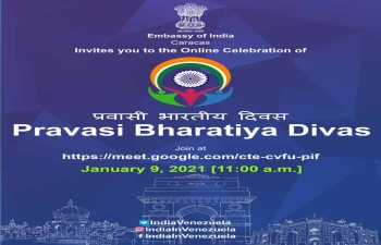 Celebration of Pravasi Bhartiya Divas 2021 by Embassy of India, Caracas